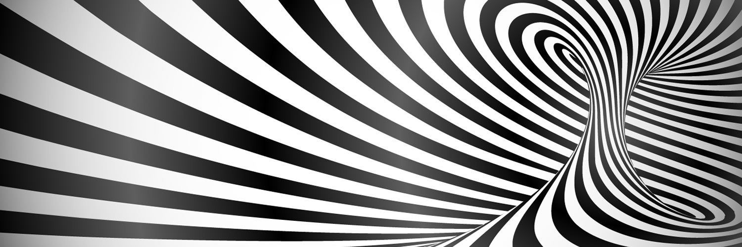 illusion-  black and white twisted lines