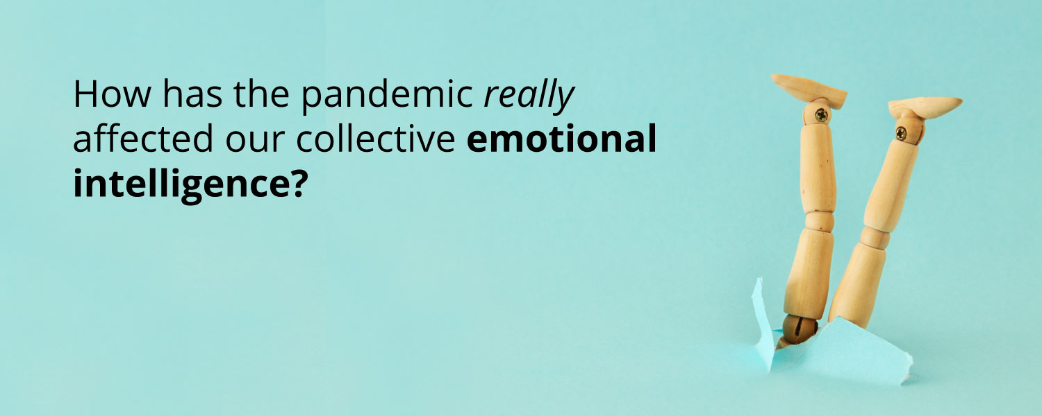 How has the pandemic really affected our collective emotional intelligence ... (image of a wooden dummy taking a nose dive)